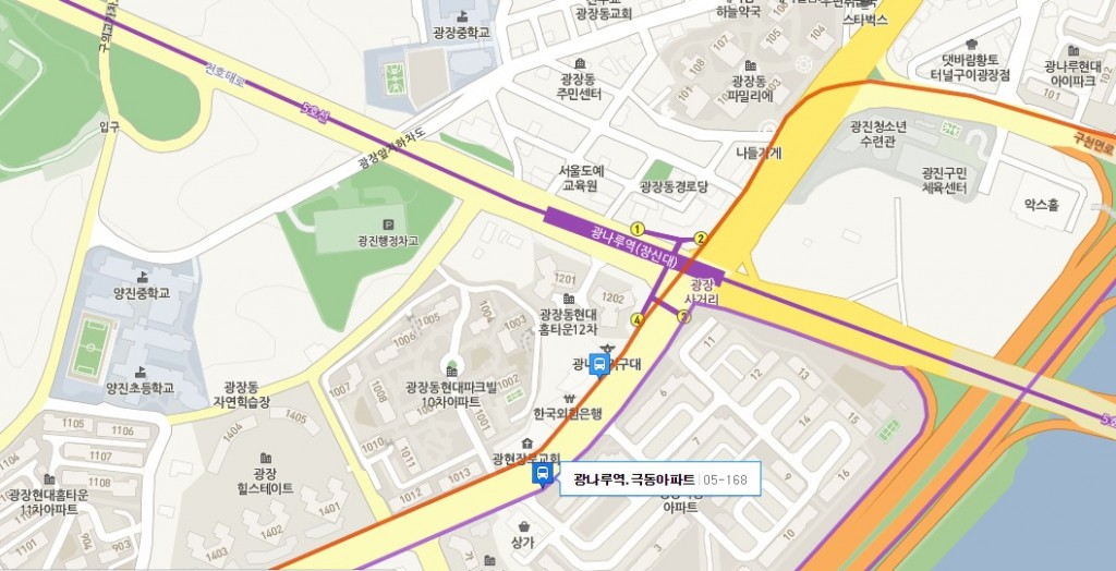 kwangnalu station_map